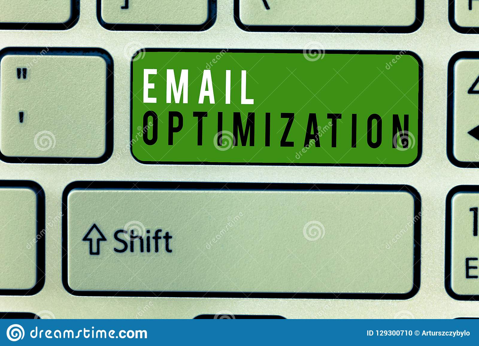 Writing note showing Email Optimization. Business photo showcasing Maximize the effectiveness of the marketing campaign