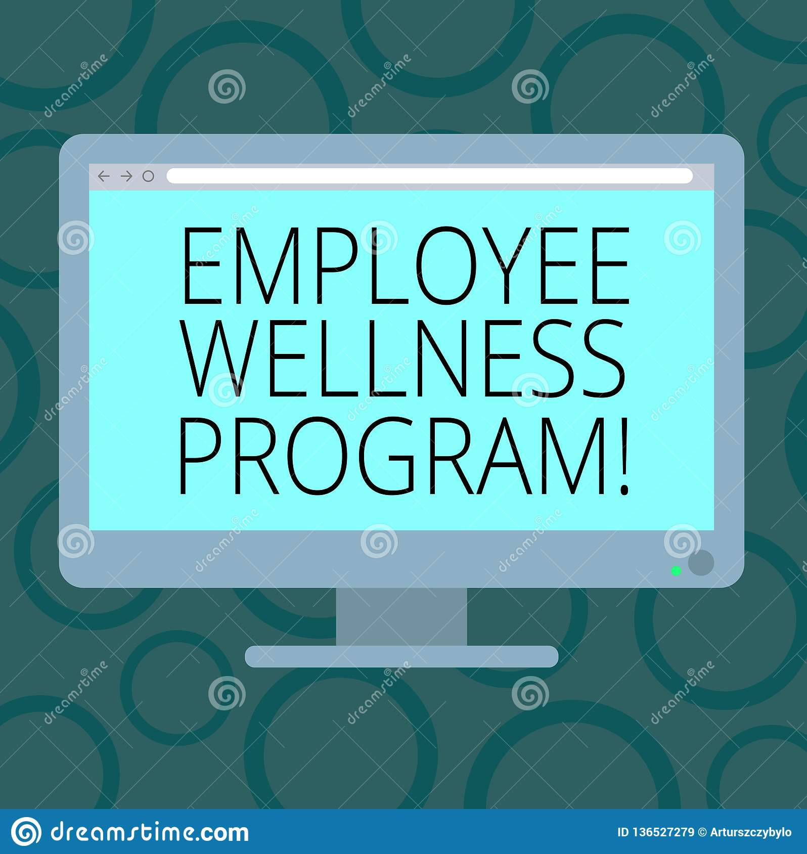 Writing Note Showing Employee Wellness Program. Business