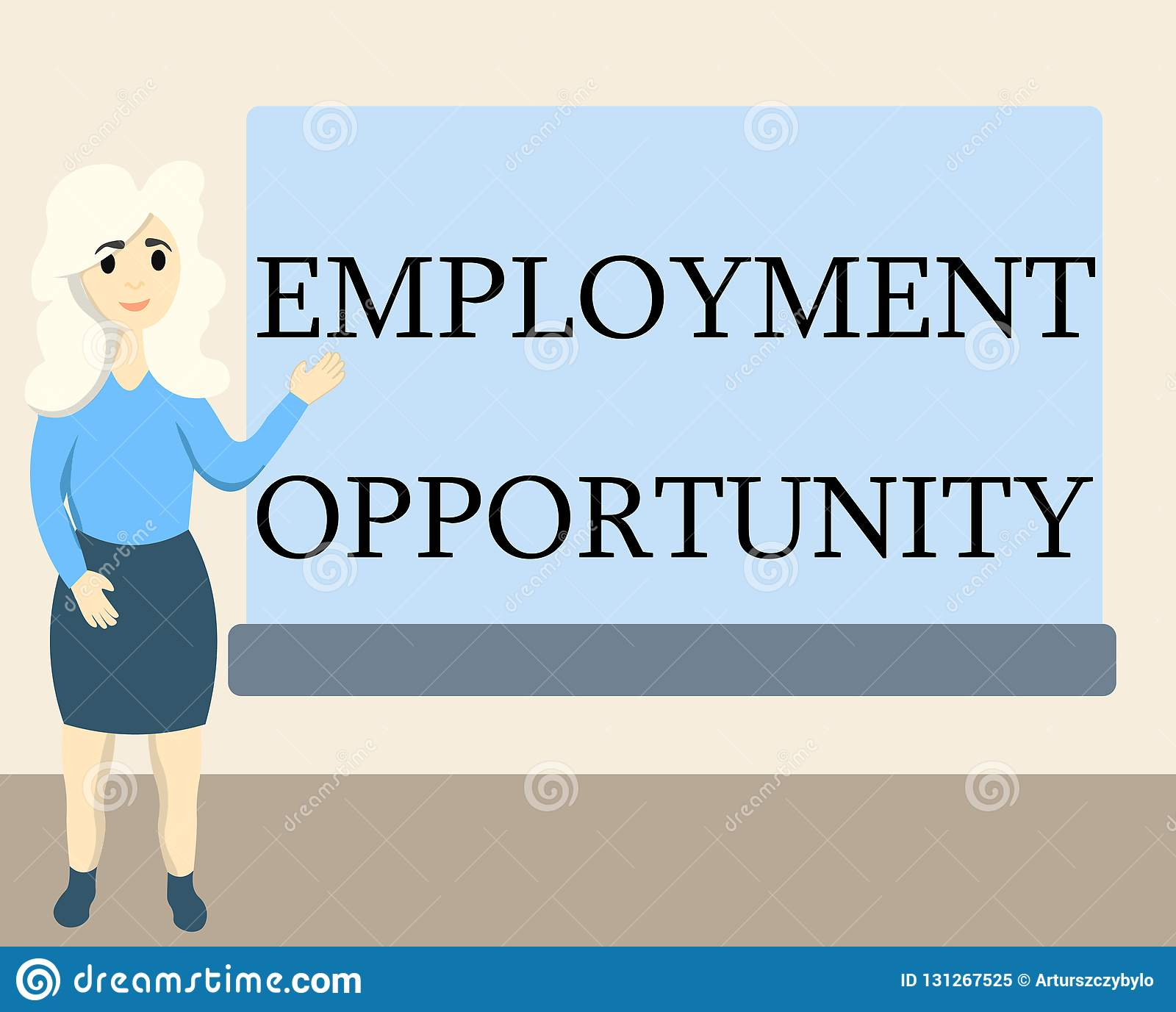 Writing note showing Employment Opportunity. Business photo showcasing no Discrimination against Applicant Equal Policy
