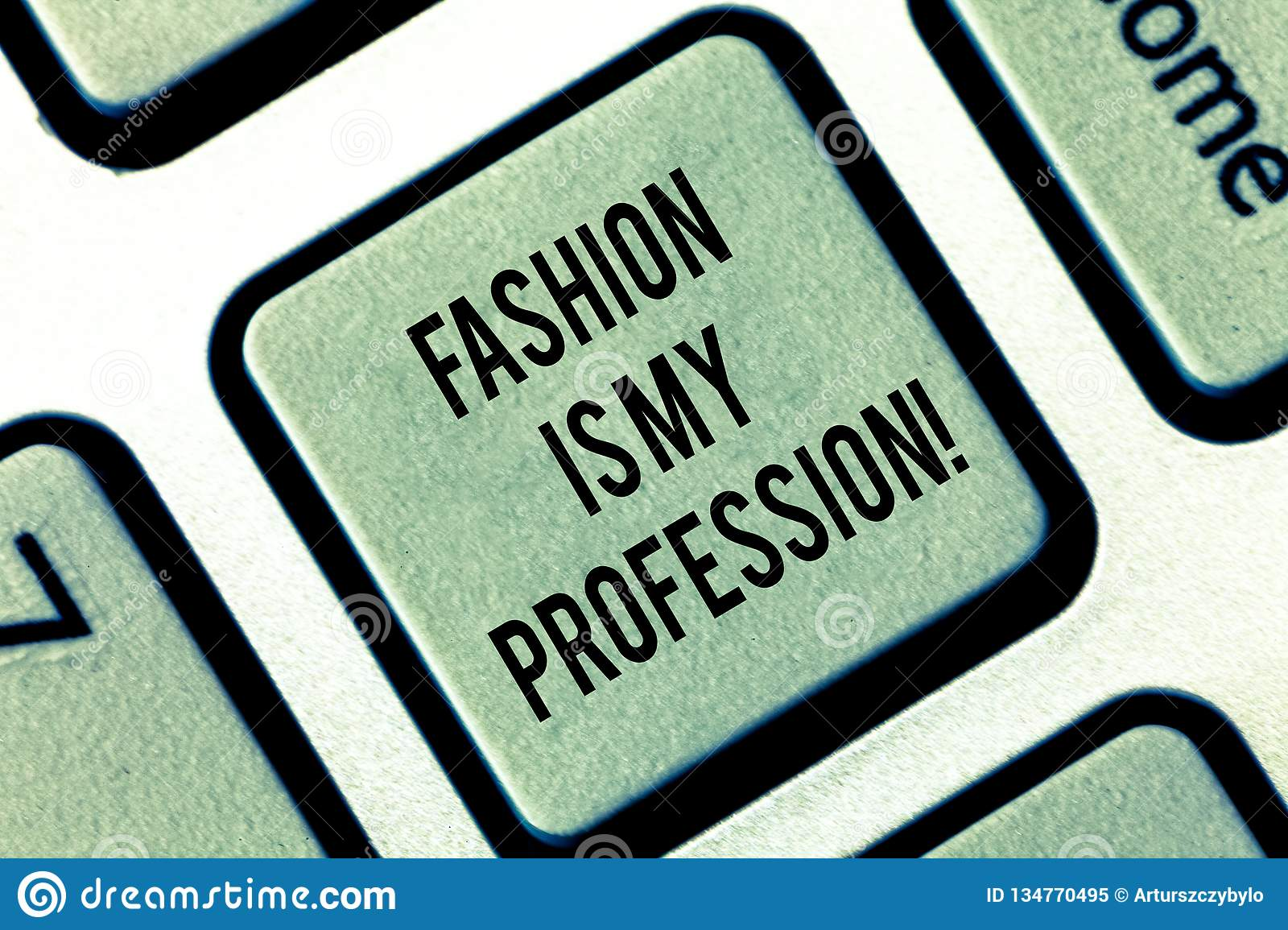 Writing Note Showing Fashion Is My Profession Business Photo Showcasing Fashionist Professional Clothes Designer Outfit Stock Image Image Of Beauty Career 134770495