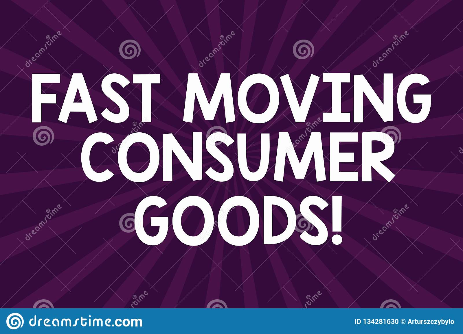 Writing note showing Fast Moving Consumer Goods. Business photo showcasing High volume of purchases Consumerism retail