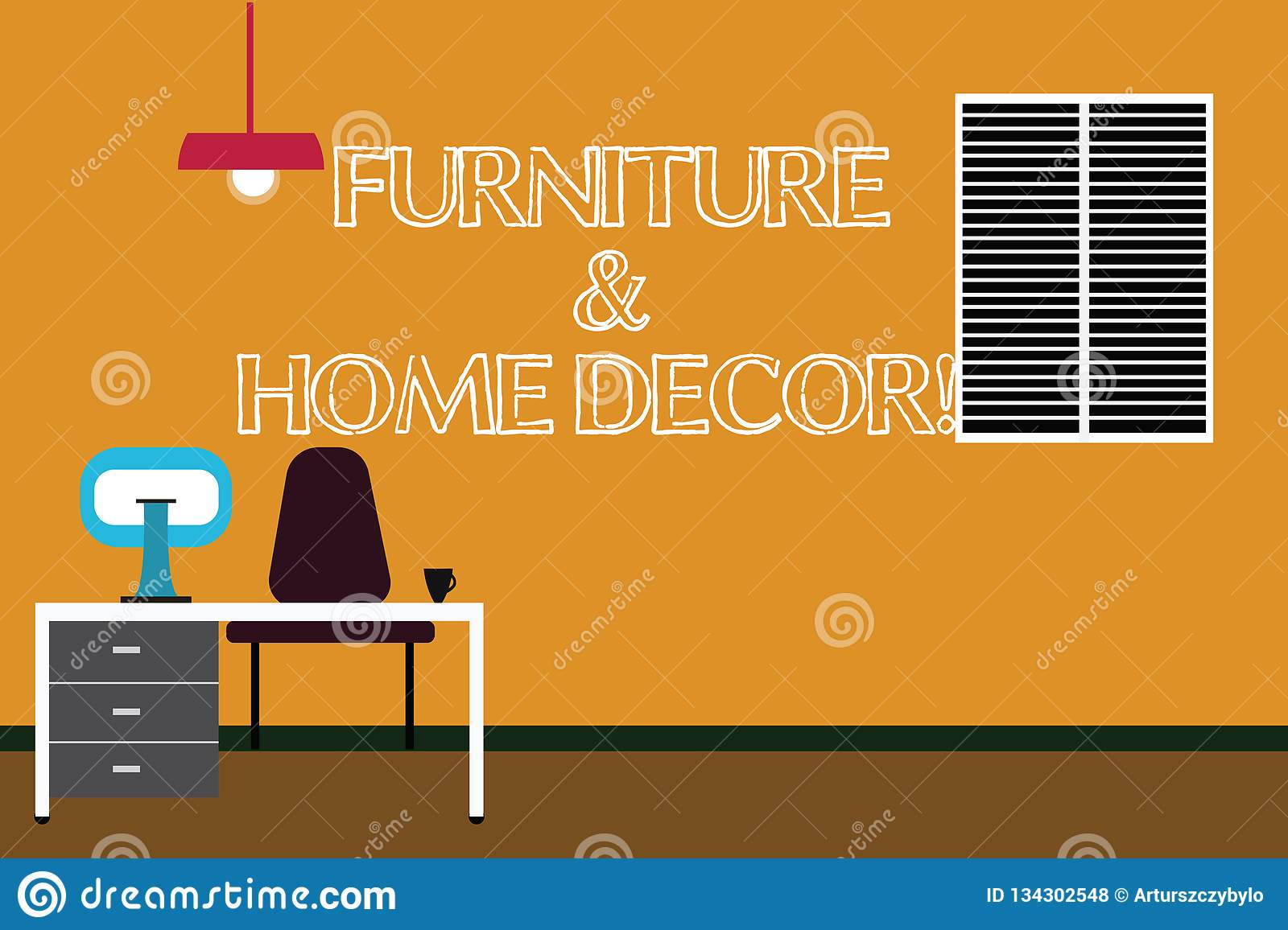 Writing Note Showing Furniture And Home Decor Business Photo Showcasing Interior Design Creative Modern House Decoration Minimalist Computer