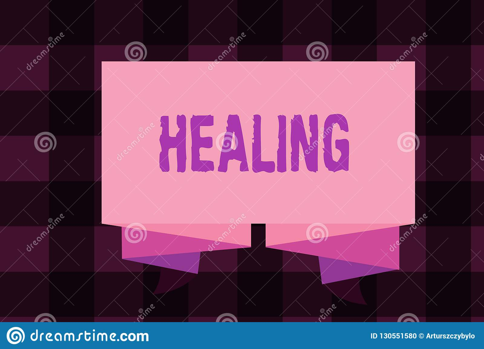 Writing note showing Healing. Business photo showcasing process of making or becoming sound or healthy again Helping injured
