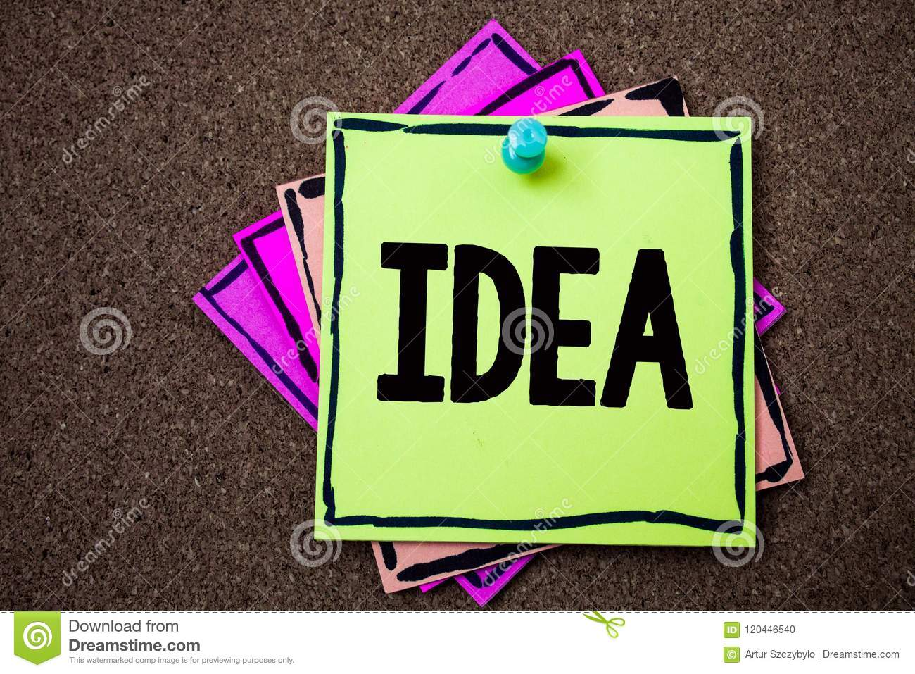 Writing note showing Idea. Business photo showcasing Creative Innovative Thinking Imagination Design Planning Solutions Papers id