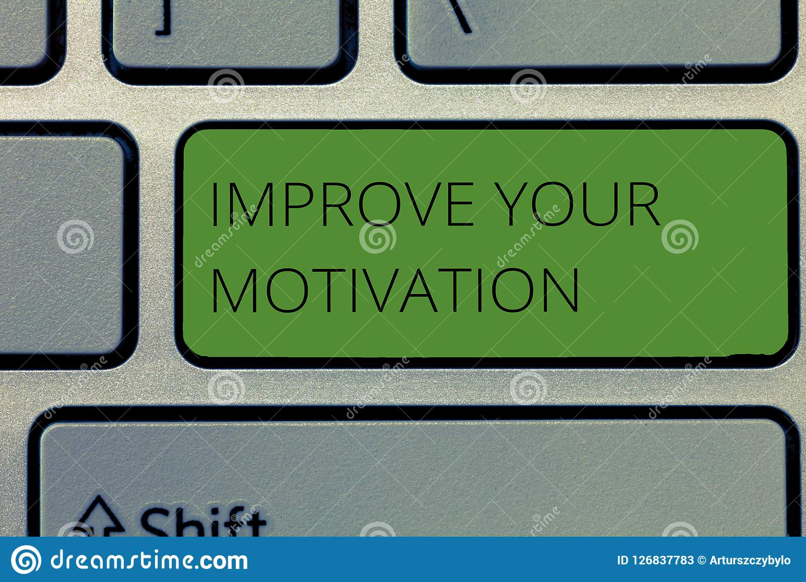 Writing note showing Improve Your Motivation. Business photo showcasing Boost your self drive Enhance Motives and Goals.  Stock Photos
