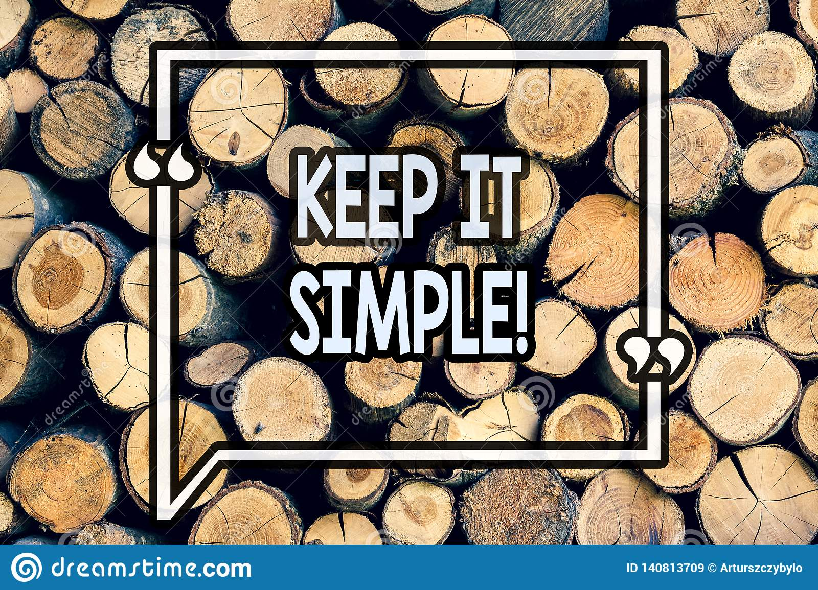Writing note showing Keep It Simple. Business photo showcasing Simplify Things Easy Clear Concise Ideas Wooden background vintage
