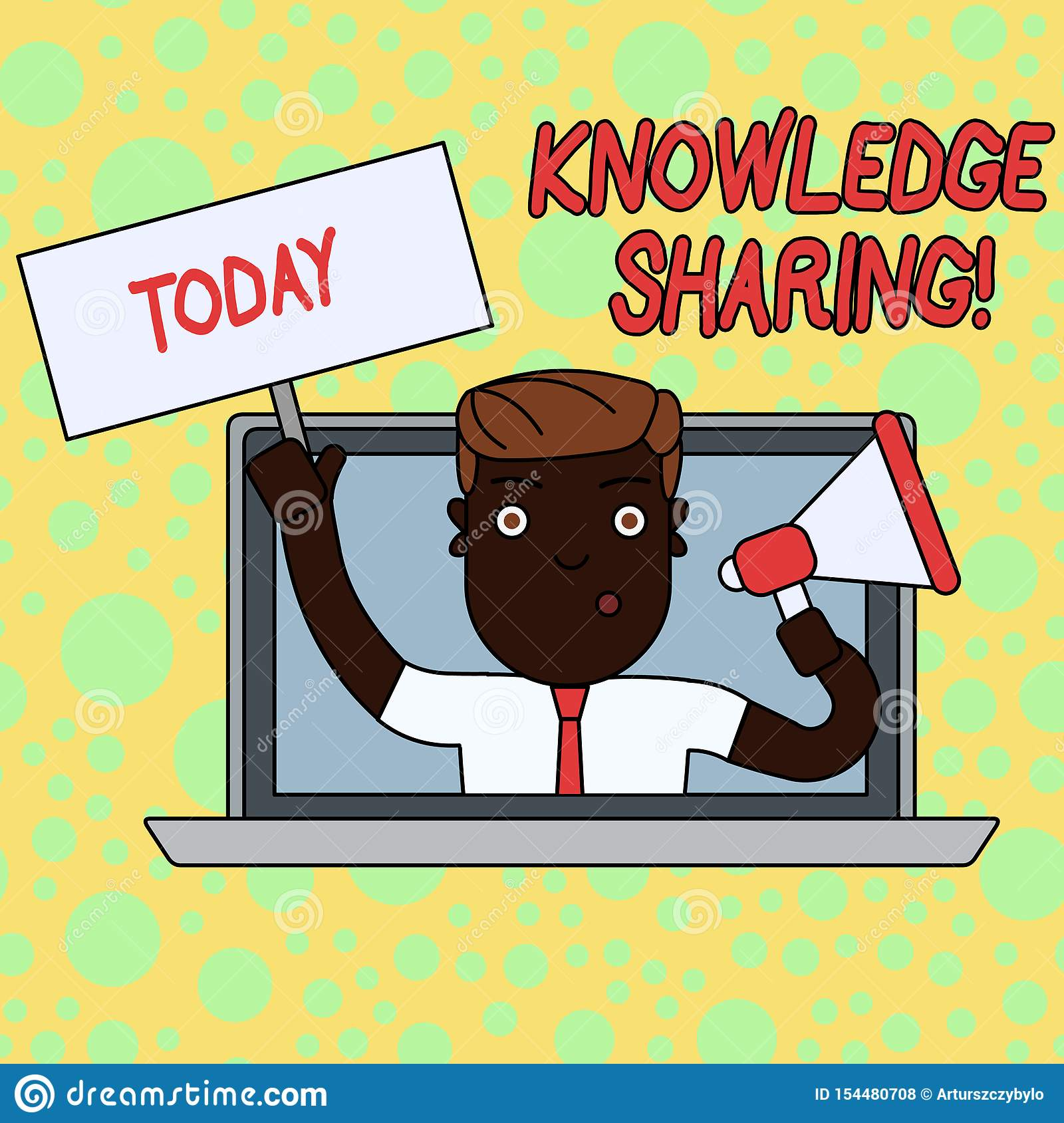 Writing note showing Knowledge Sharing. Business photo showcasing deliberate exchange of information that helps with