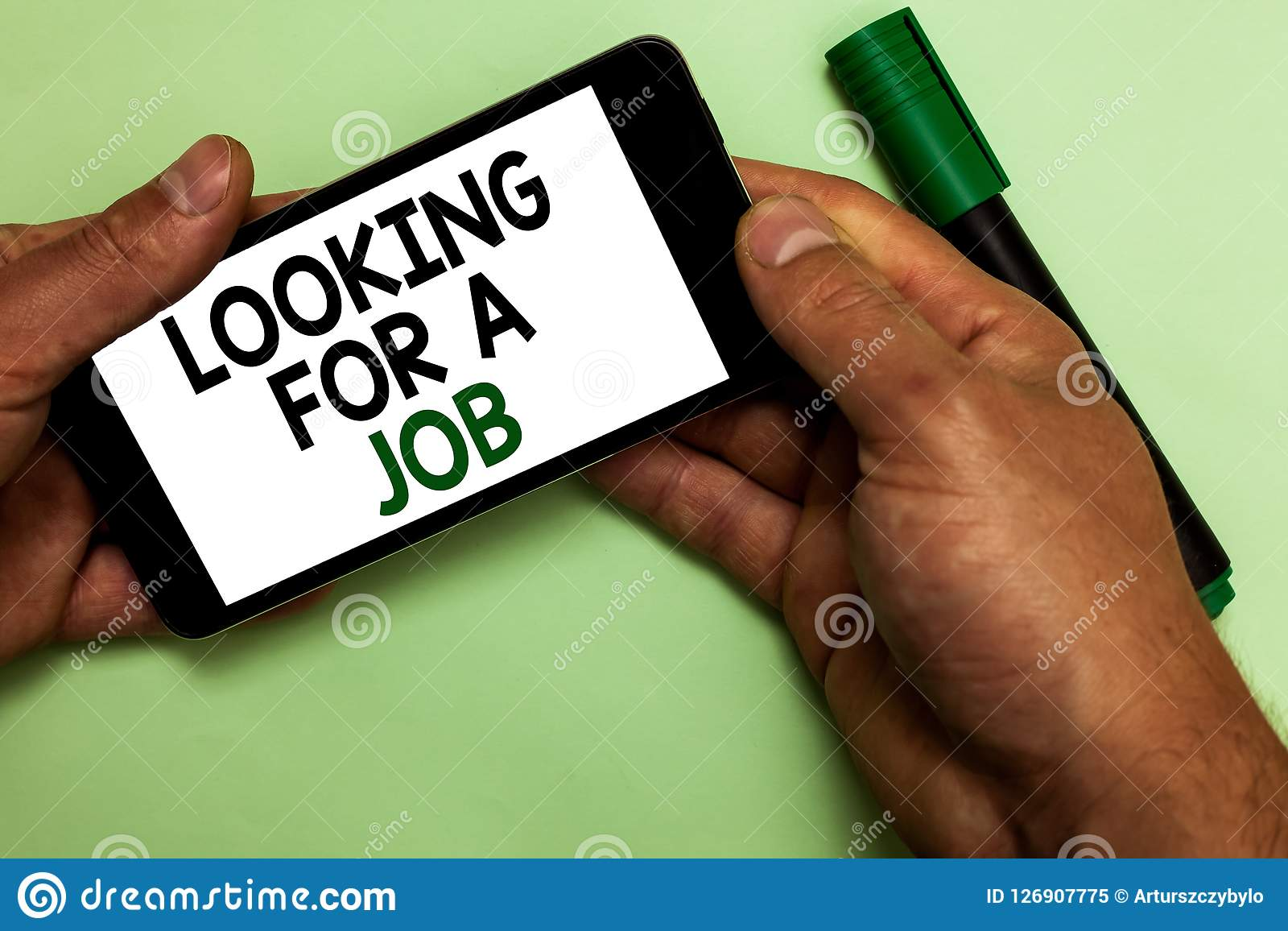 Writing Note Showing Looking For A Job Business Photo Showcasing Unemployed Seeking Work Recruitment Human