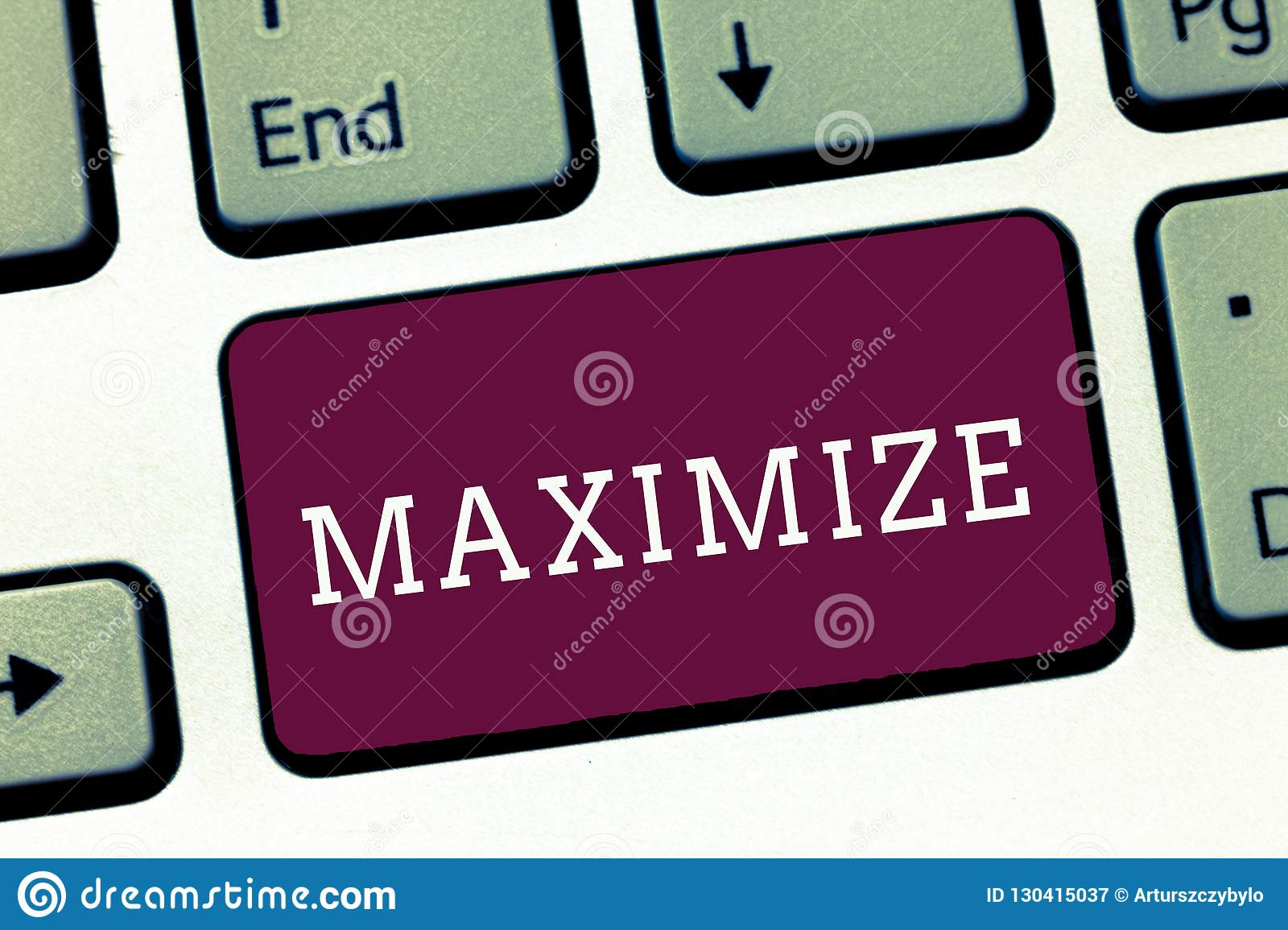 Writing note showing Maximize. Business photo showcasing make as large or great as possible best use of something