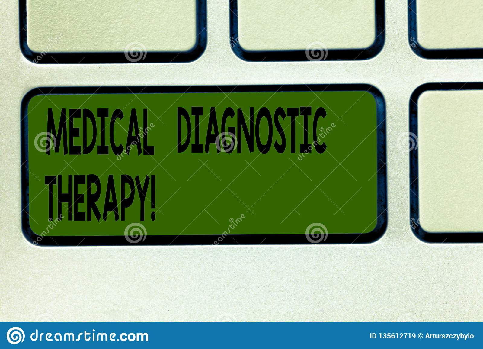 Writing note showing Medical Diagnostic Therapy. Business photo showcasing Determining demonstrating is disease base o