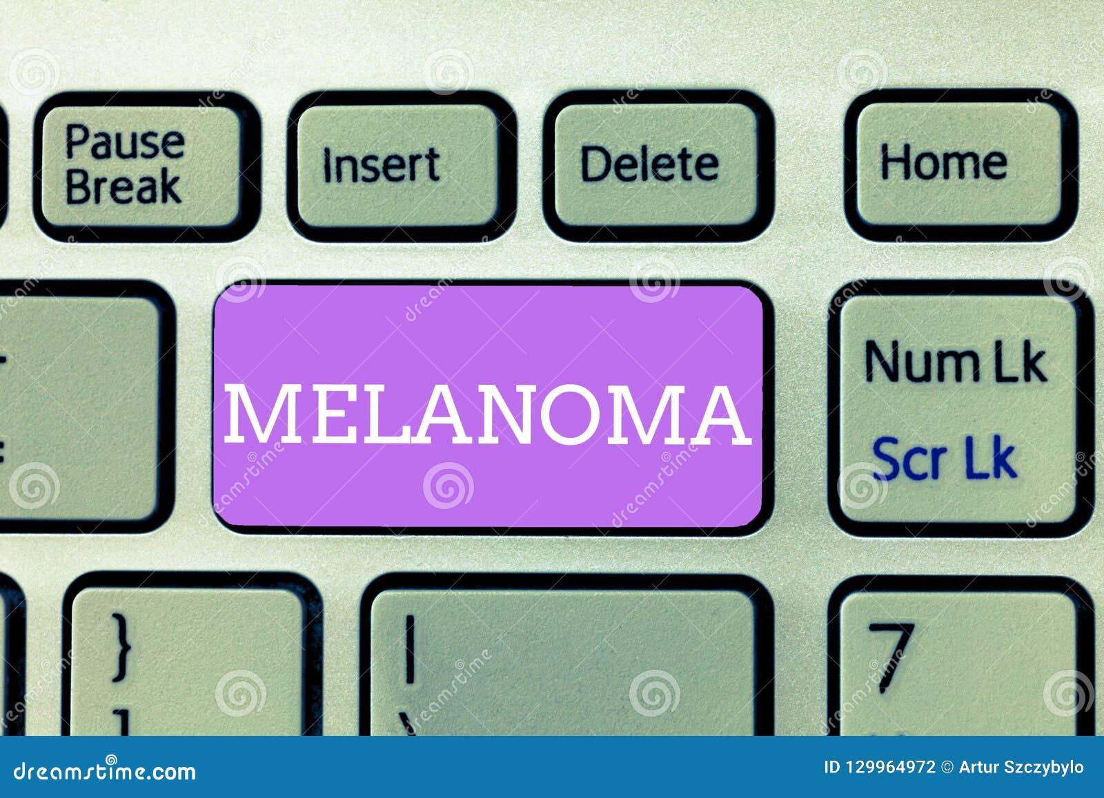 Writing Note Showing Melanoma  Business Photo Showcasing A