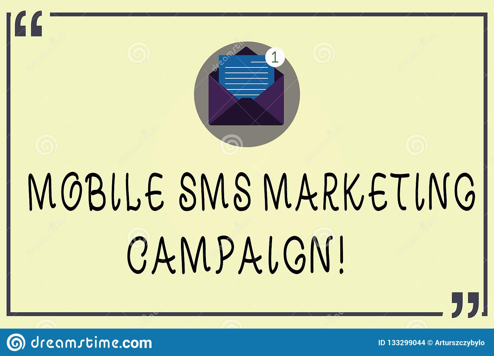 Writing Note Showing Mobile Sms Marketing Campaign  Business