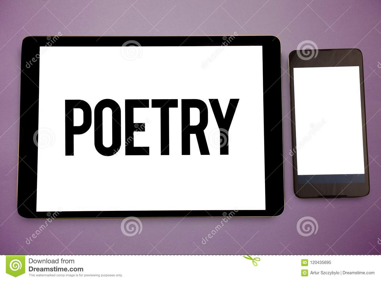 Writing Note Showing Poetry. Business Photo Showcasing Literary Work ...