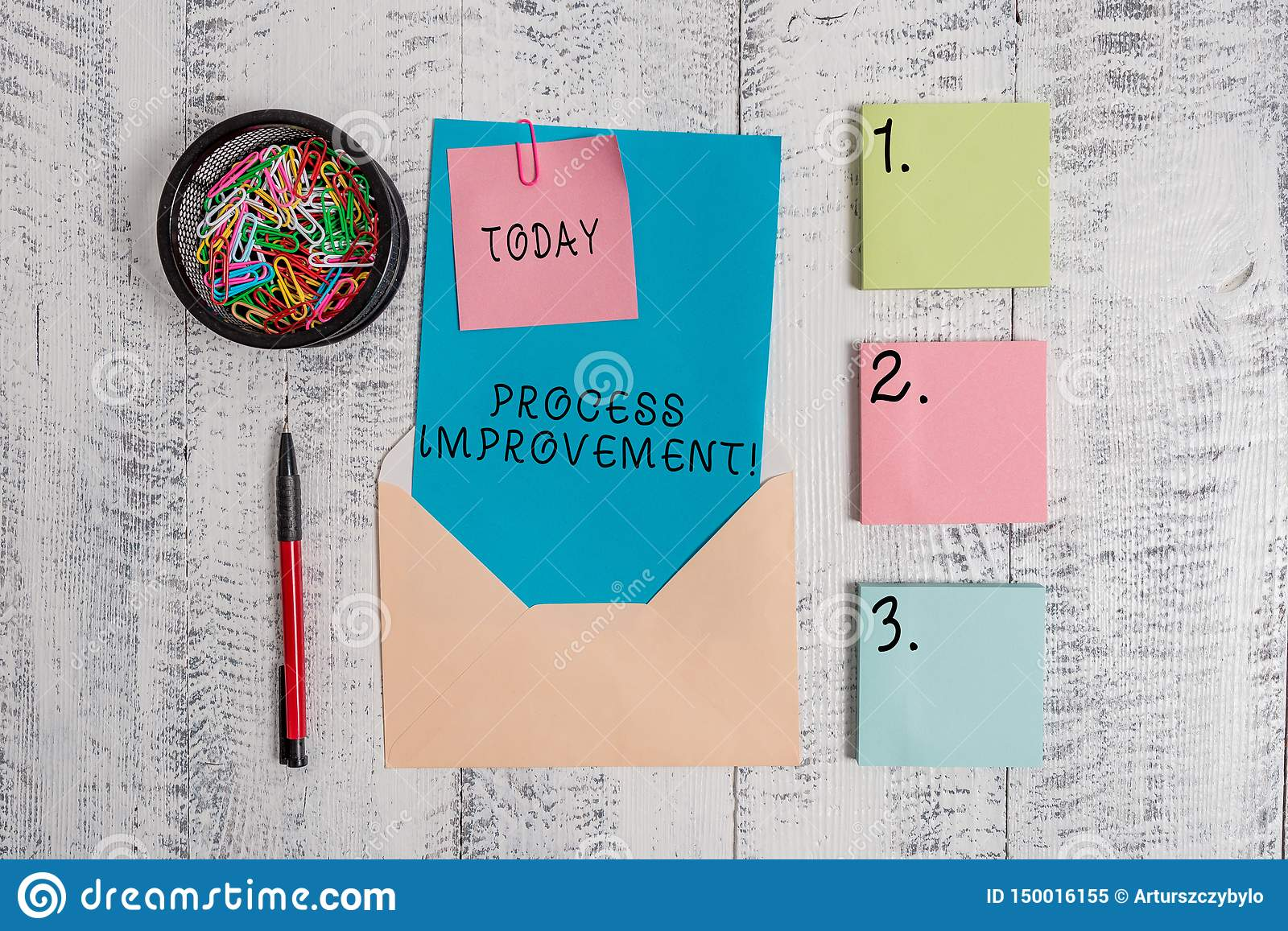 Writing note showing Process Improvement. Business photo showcasing Optimization Meet New Quotas Standard of Quality