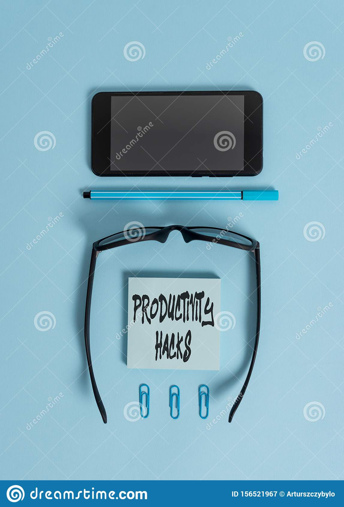 Writing note showing Productivity Hacks. Business photo showcasing tricks that you get more done in the same amount of