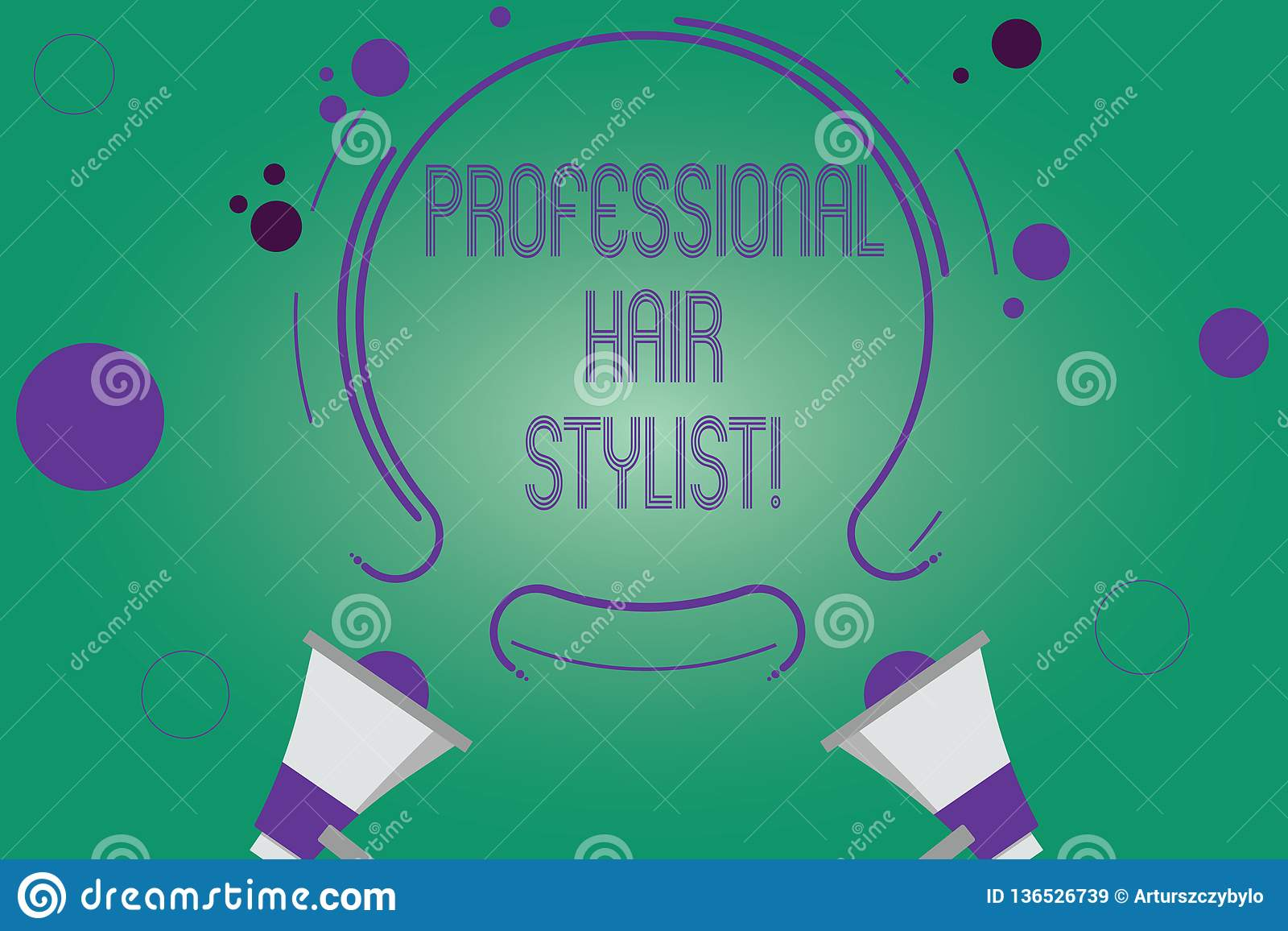 Writing note showing Professional Hair Stylist. Business photo showcasing A demonstrating whose occupation is to cut or style hair