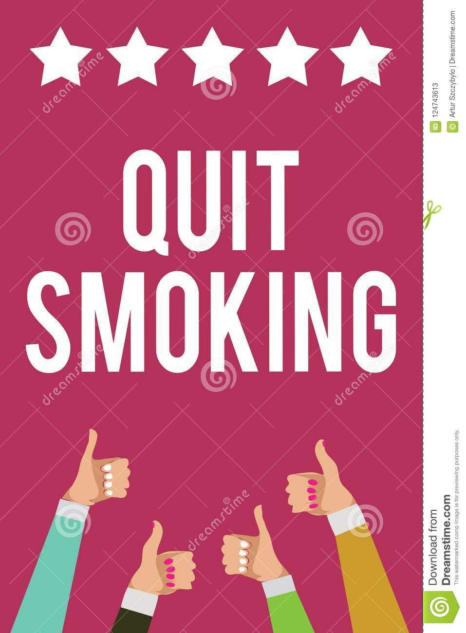 writing note showing quit smoking  business photo