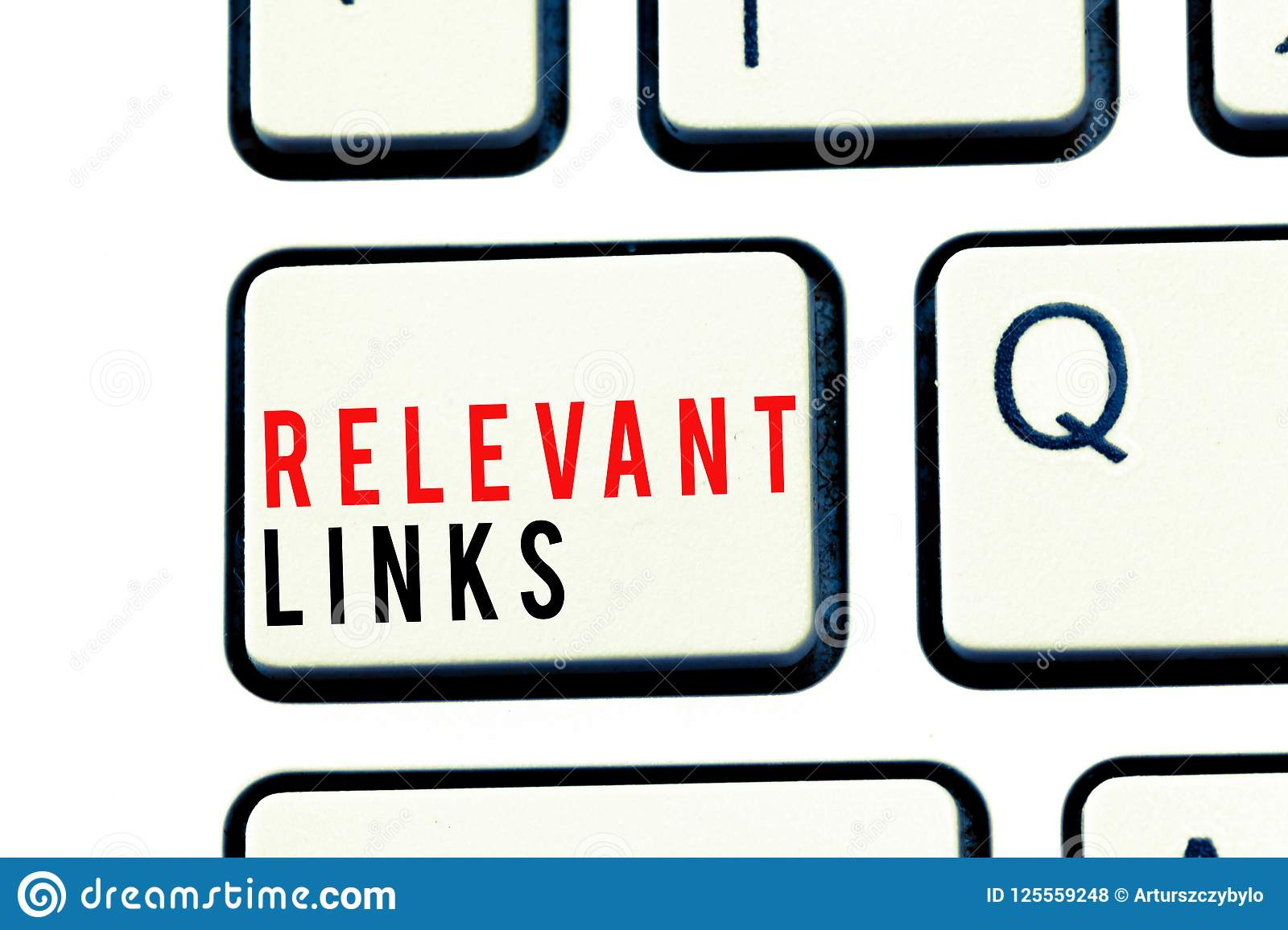 Writing note showing Relevant Links. Business photo showcasing Significant sites for a particular topic Associated