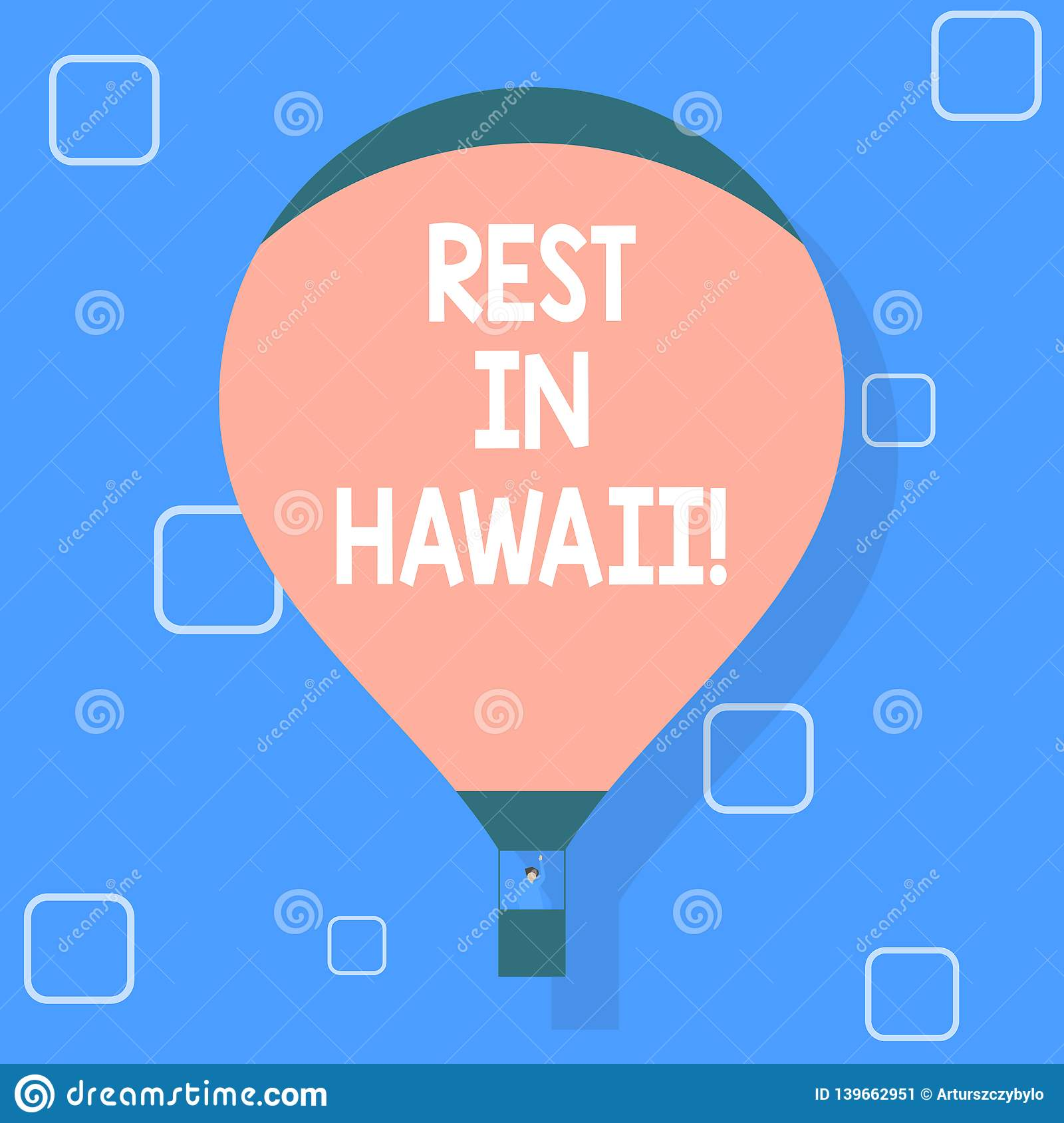 Writing note showing Rest In Hawaii. Business photo showcasing Have a relaxing time enjoying beautiful beaches and