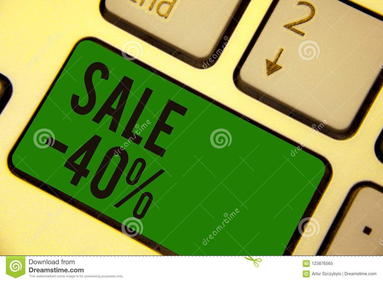 Writing Note Showing Sale 40  Business Photo Showcasing A Promo