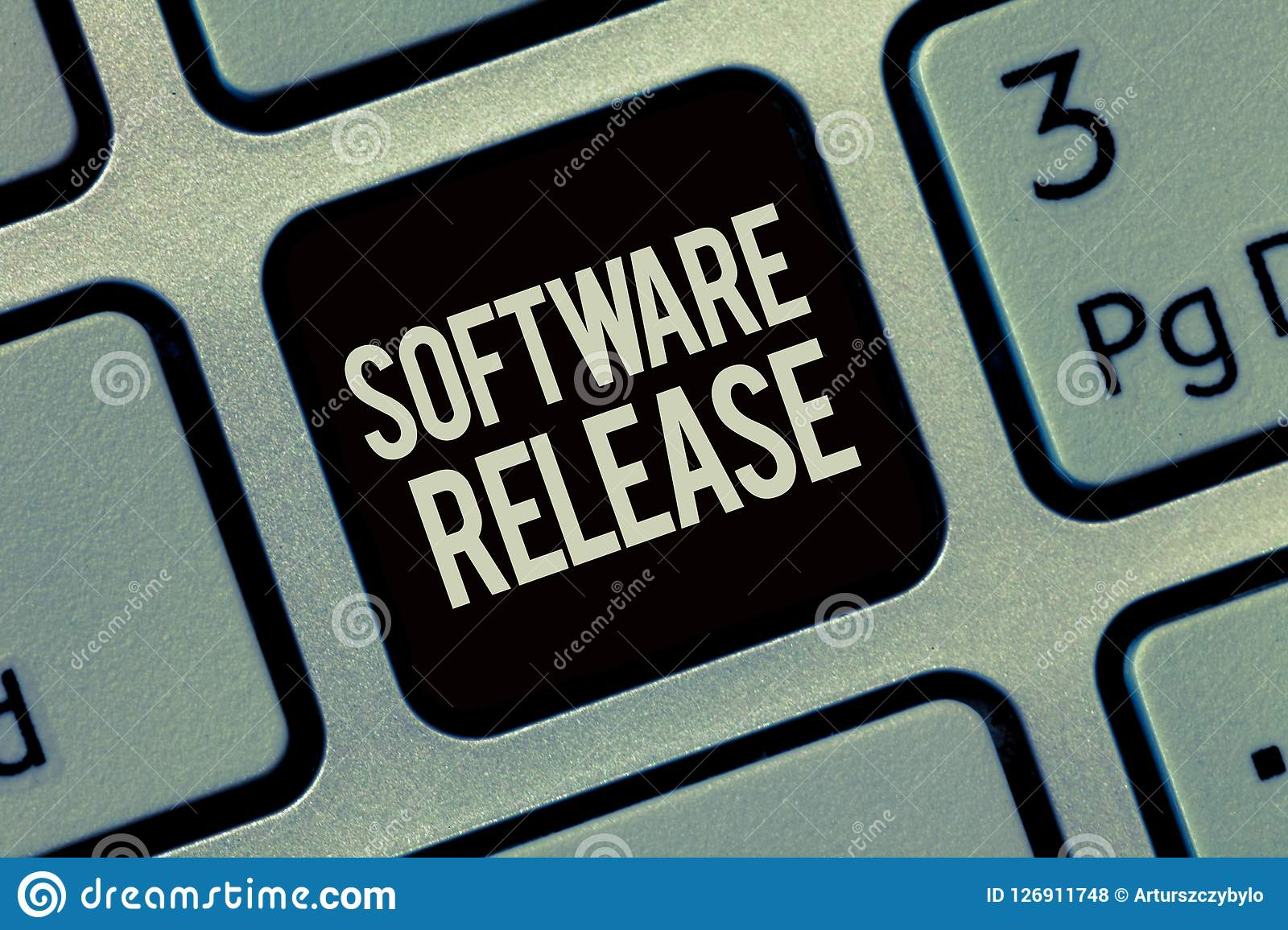Writing note showing Software Release. Business photo showcasing sum of stages of development and maturity for program