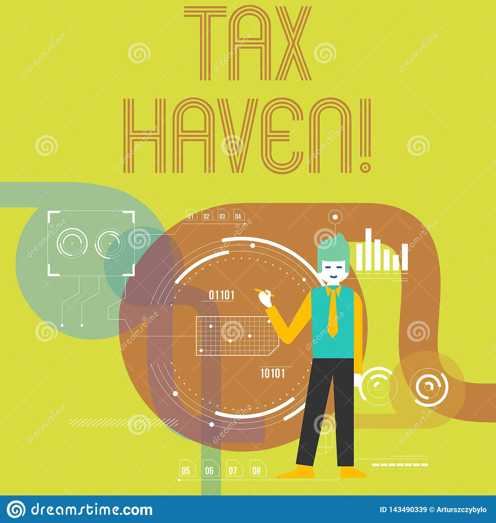 Writing note showing Tax Haven. Business photo showcasing country or independent area where taxes are levied at low rate