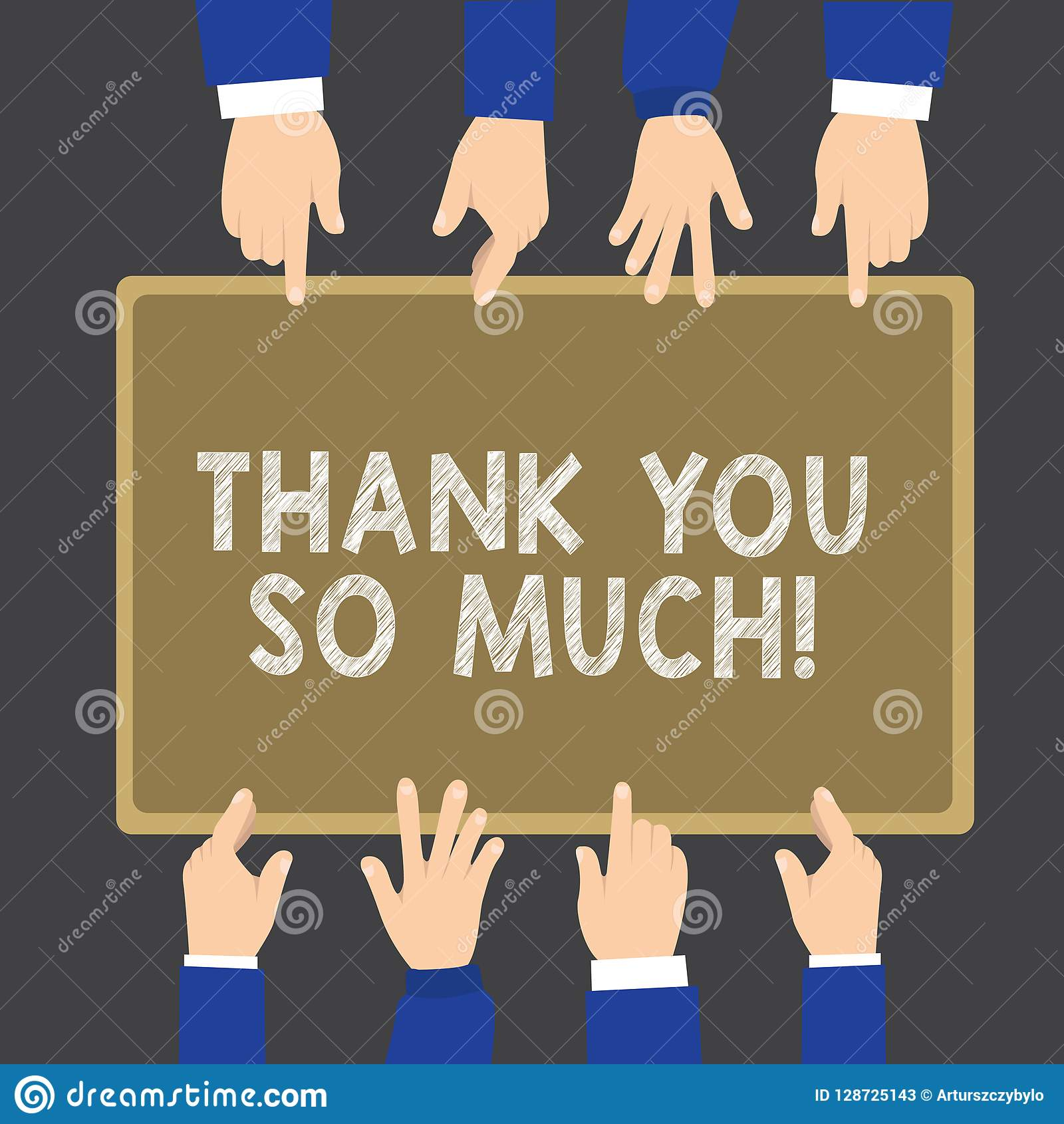 Writing Note Showing Thank You So Much Business Photo Showcasing