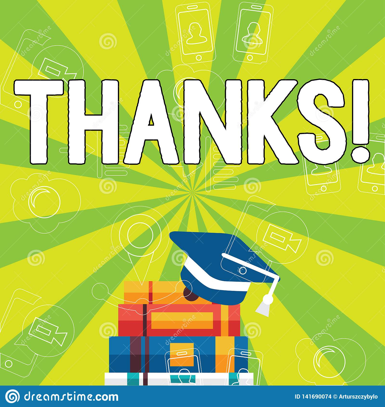 Writing note showing Thanks. Business photo showcasing Appreciation greeting Acknowledgment Gratitude.