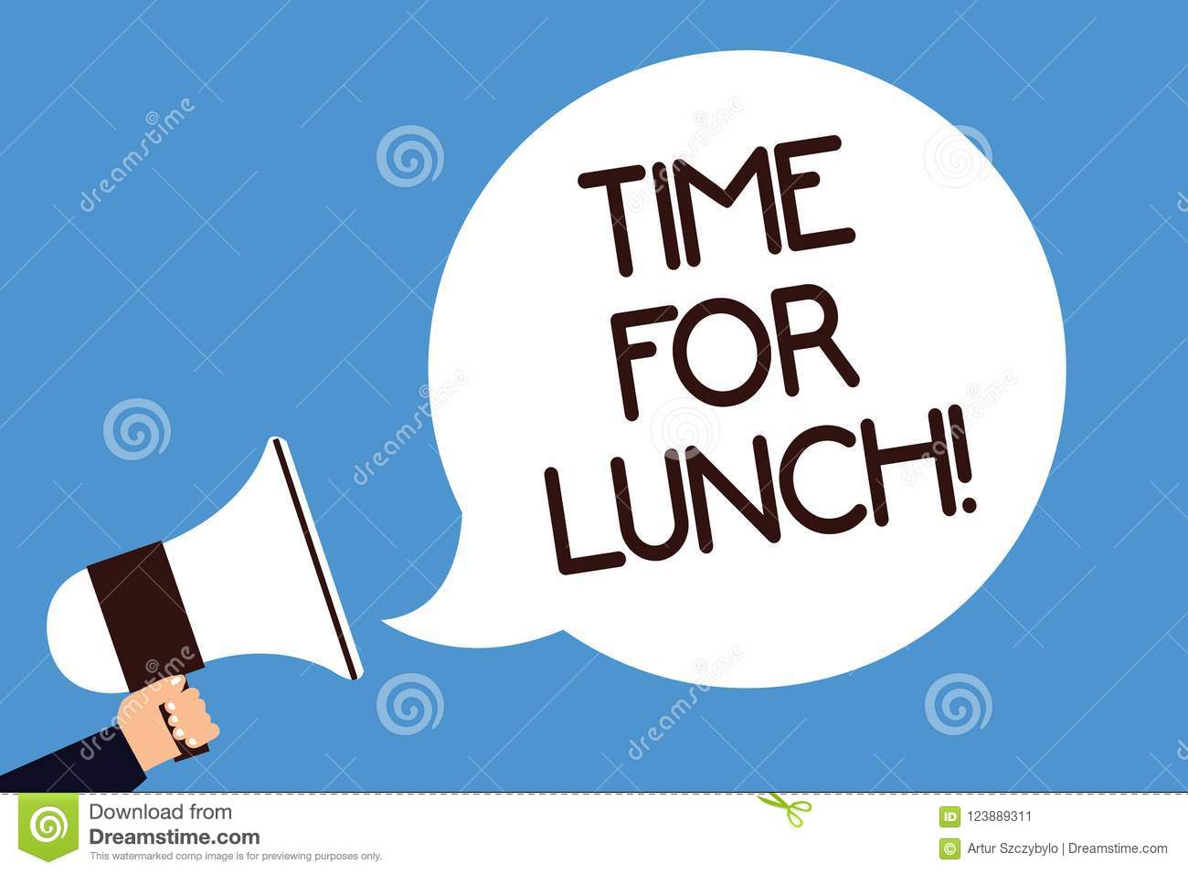 Writing Note Showing Time For Lunch. Business Photo ...