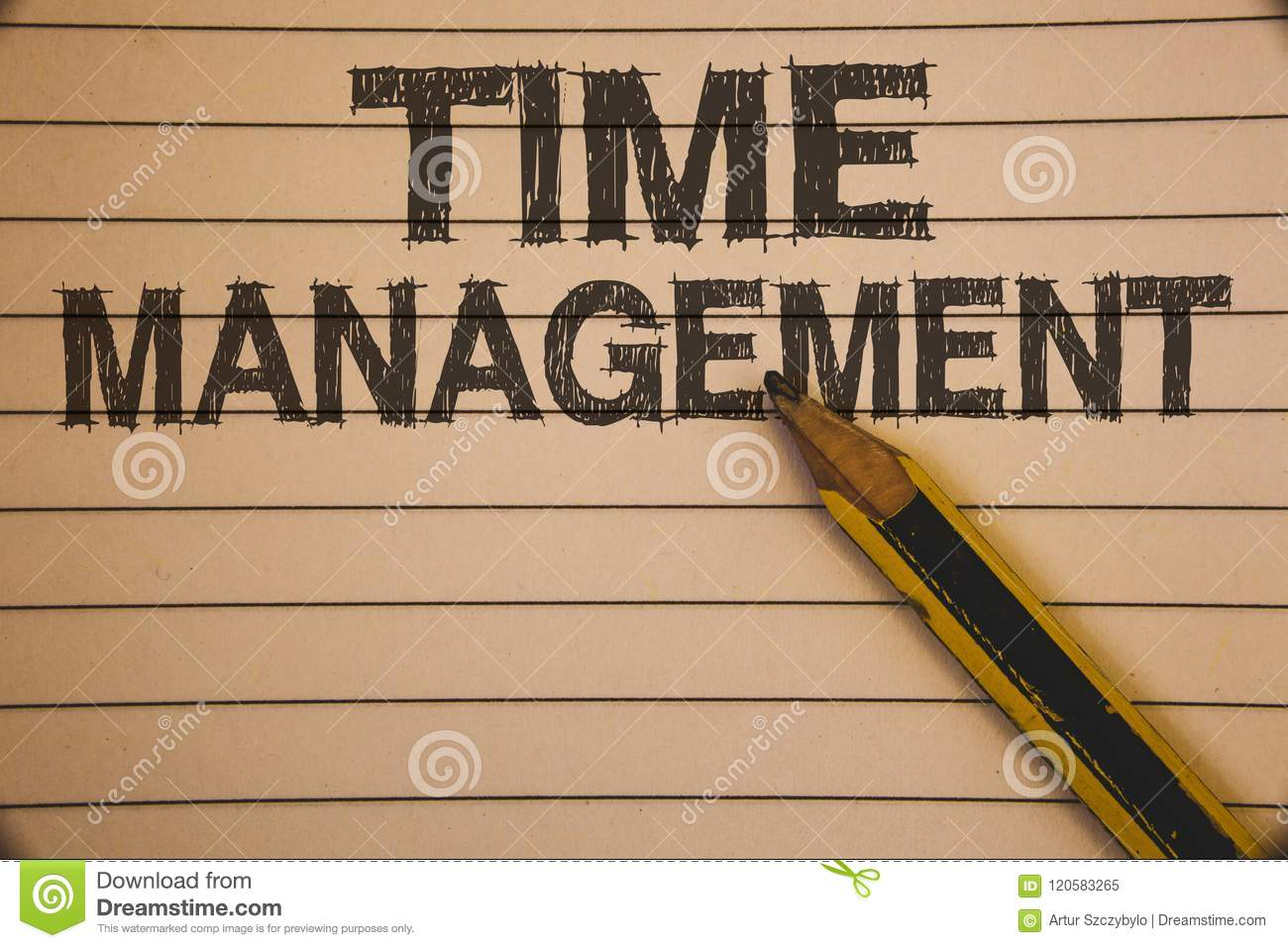 Writing note showing Time Management. Business photo showcasing Schedule Planned for Job Efficiency Meeting Deadlines Ideas conce