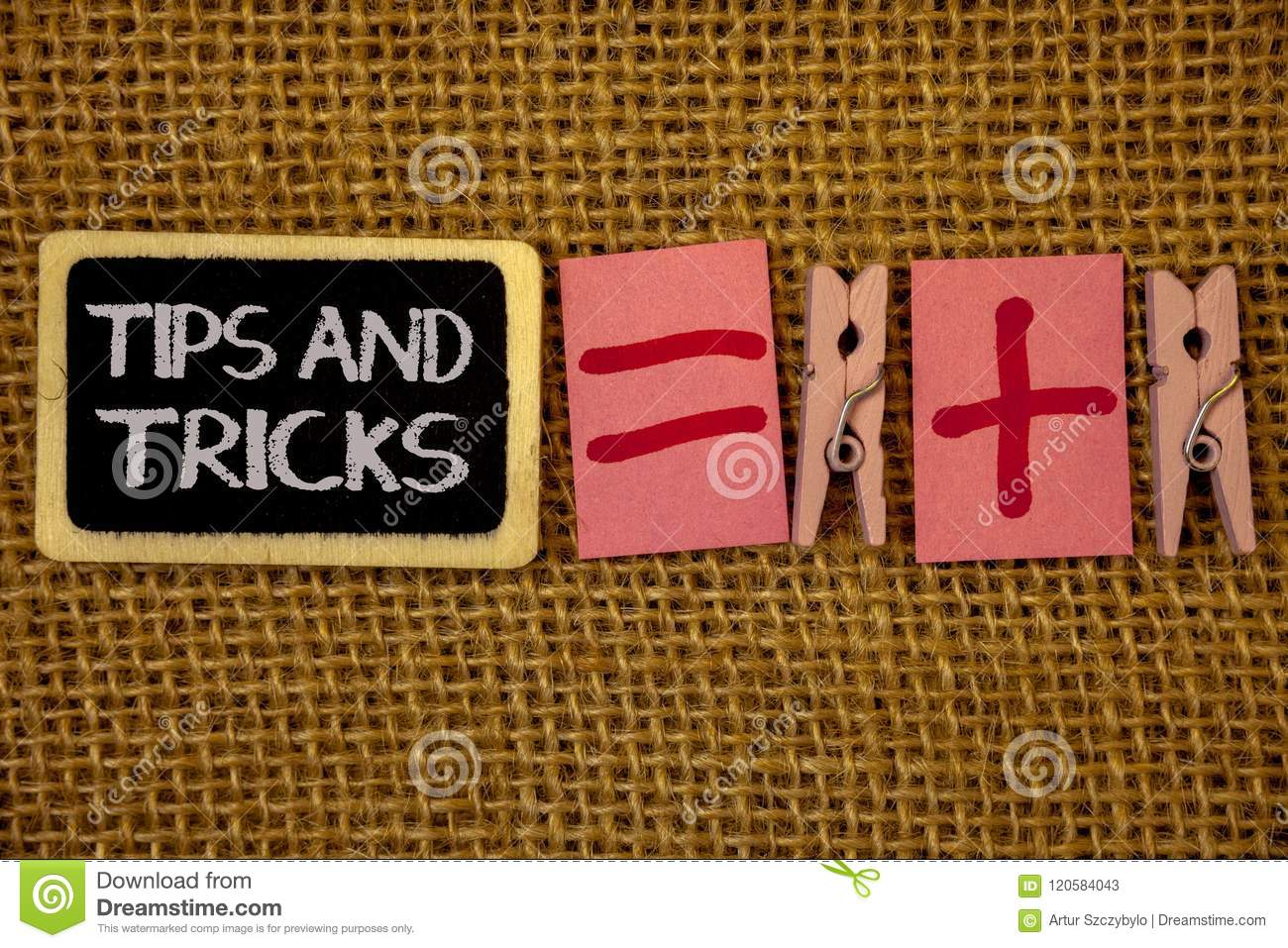 Writing note showing Tips And Tricks. Business photo showcasing Suggestions to Make things easier Helpful Advices Solutions Ideas