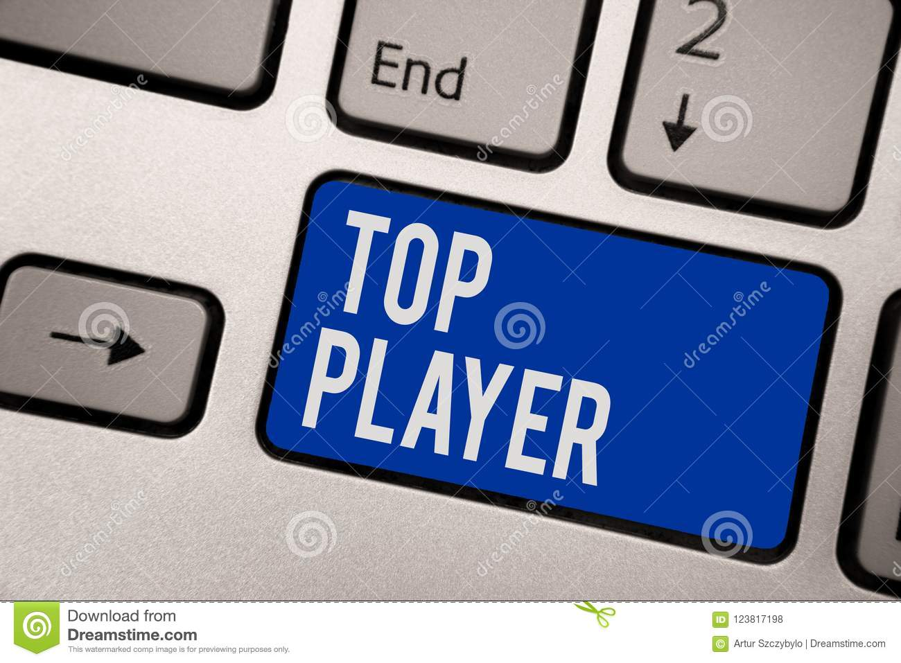 Writing Note Showing Top Player Business Photo Showcasing Being