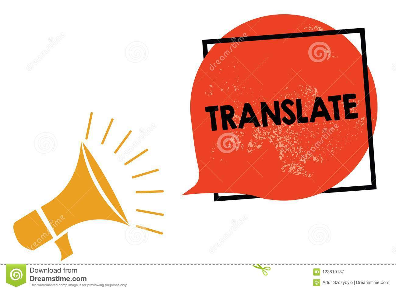 Writing Note Showing Translate Business Photo Showcasing Another Word With Same Equivalent Meaning Of A Target Language Megaphone Stock Illustration Illustration Of Rephrase Displace 123819187