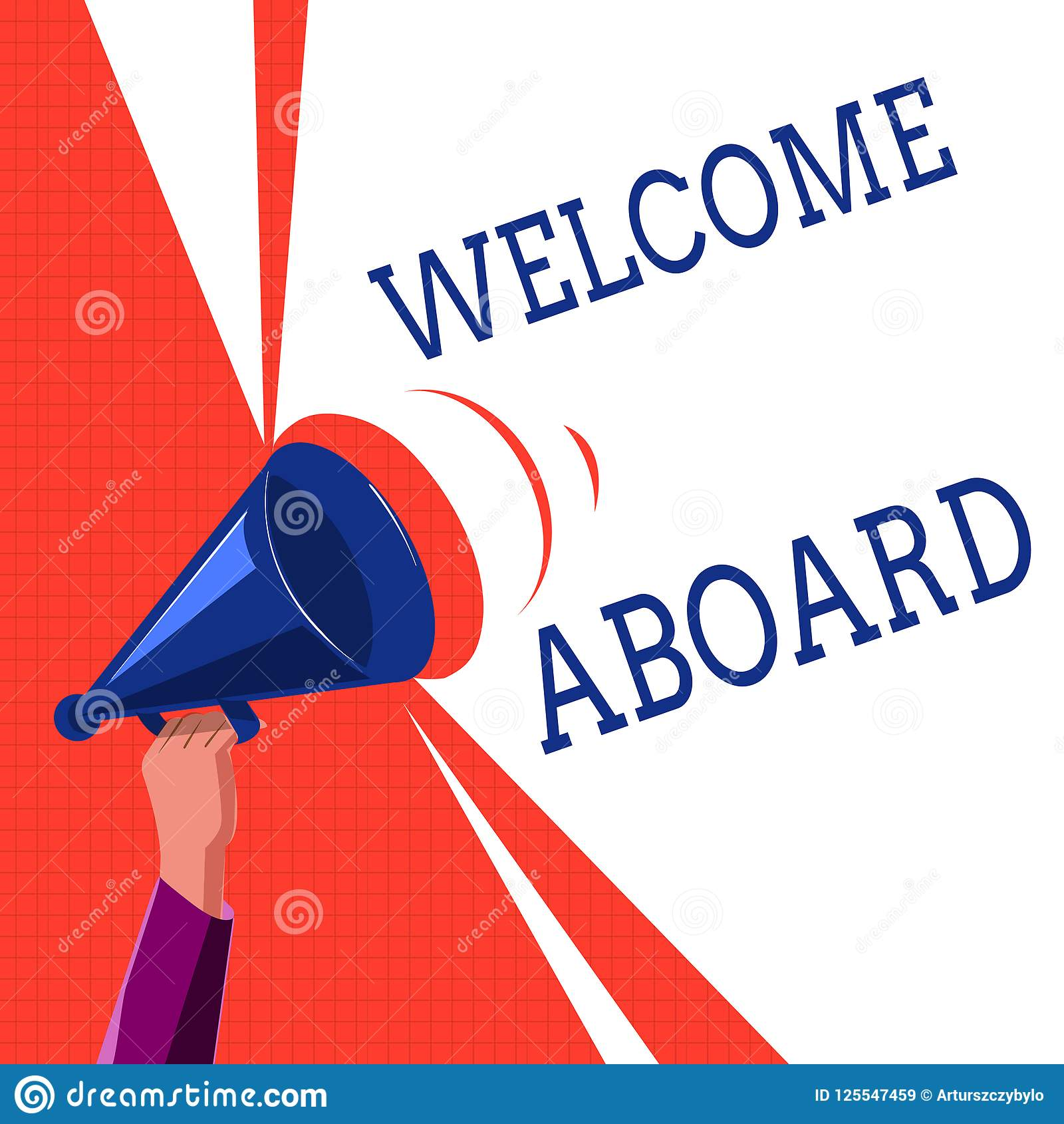 Writing Note Showing Welcome Aboard Business Photo Showcasing