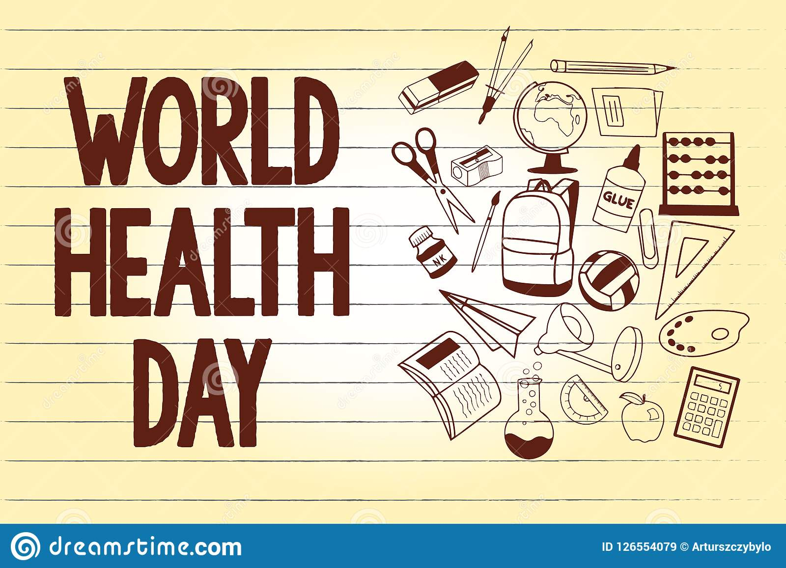 Writing Note Showing World Health Day. Business Photo ...