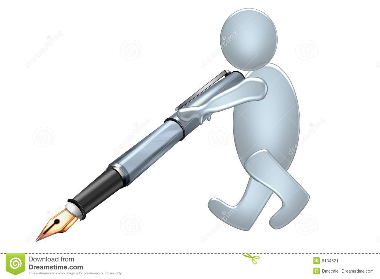 Writing Pen Stock Image - Image: 6184621