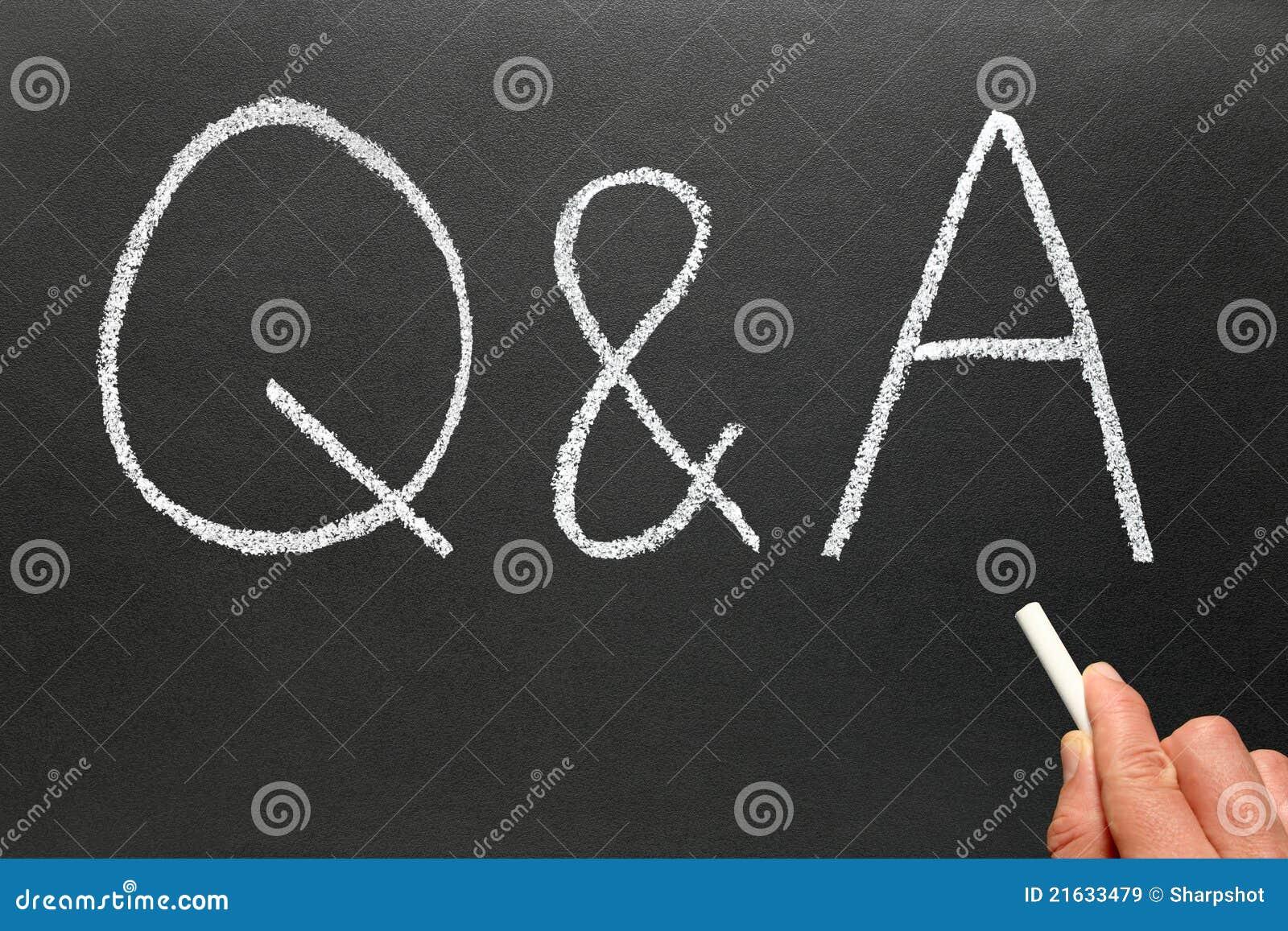 Writing Q&A, frågor och svar.