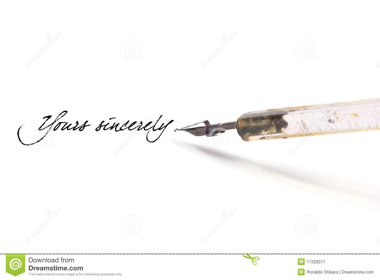 Writing With Quill Pen Royalty Free Stock Photography