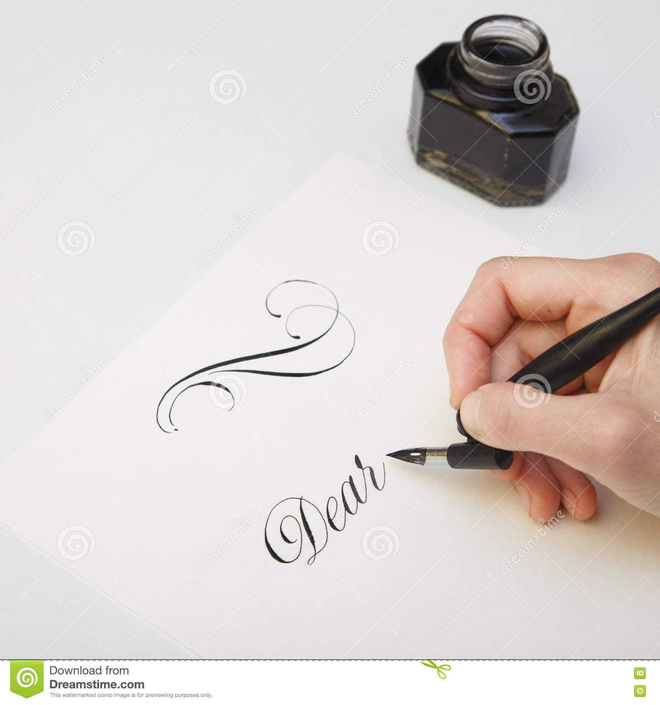 Image gallery spilled inkwell Fountain pen calligraphy tutorial