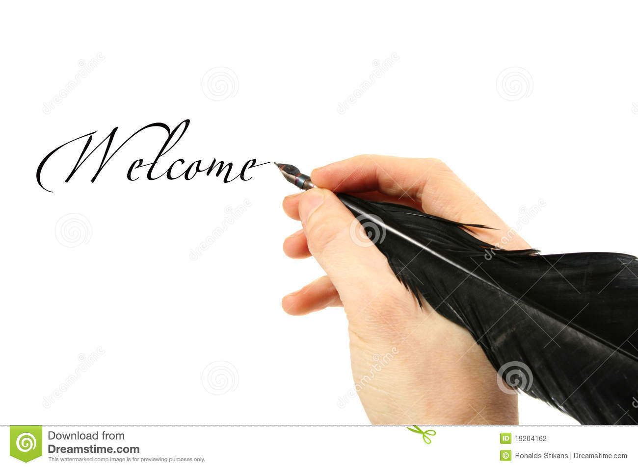 Writing Text With Quill Stock Photography Image 19204162