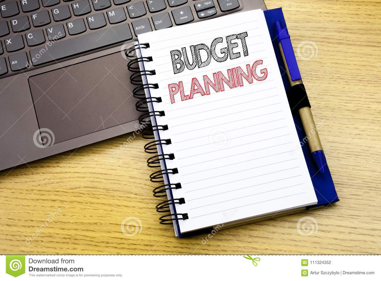 writing text showing budget planning business concept for financial