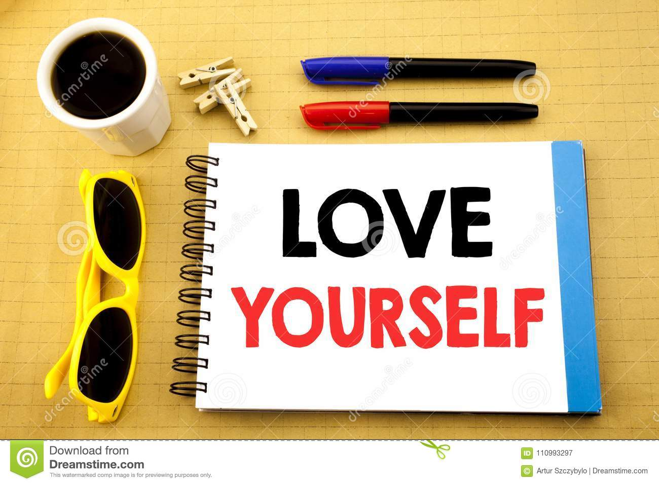 Writing Text Showing Love Yourself  Business Concept For Positive