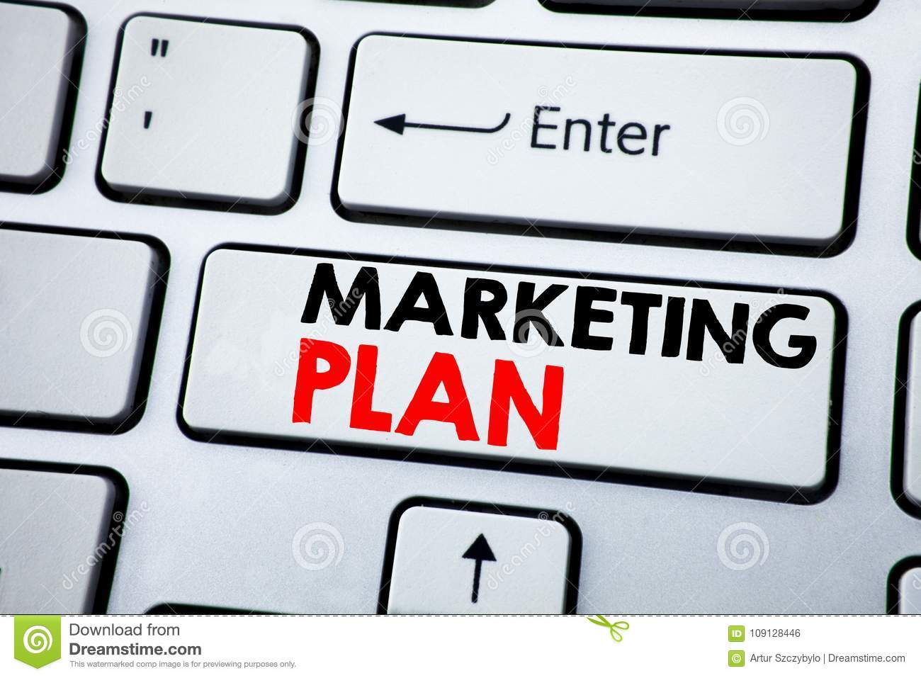 writing text showing marketing plan  business concept for planning  successful strategy written on white keyboard key with copy space  top view