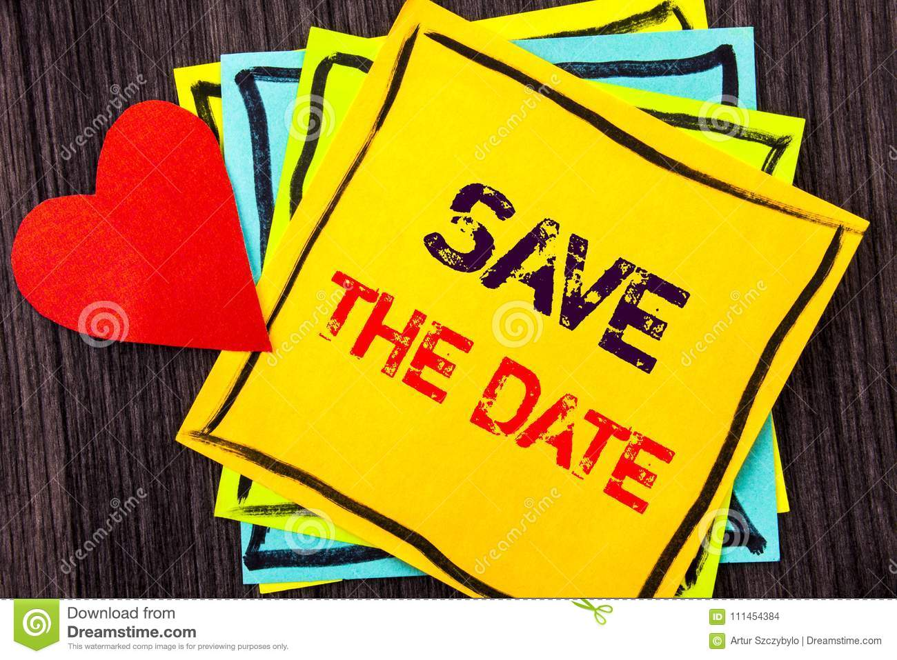 writing text showing save the date concept meaning wedding