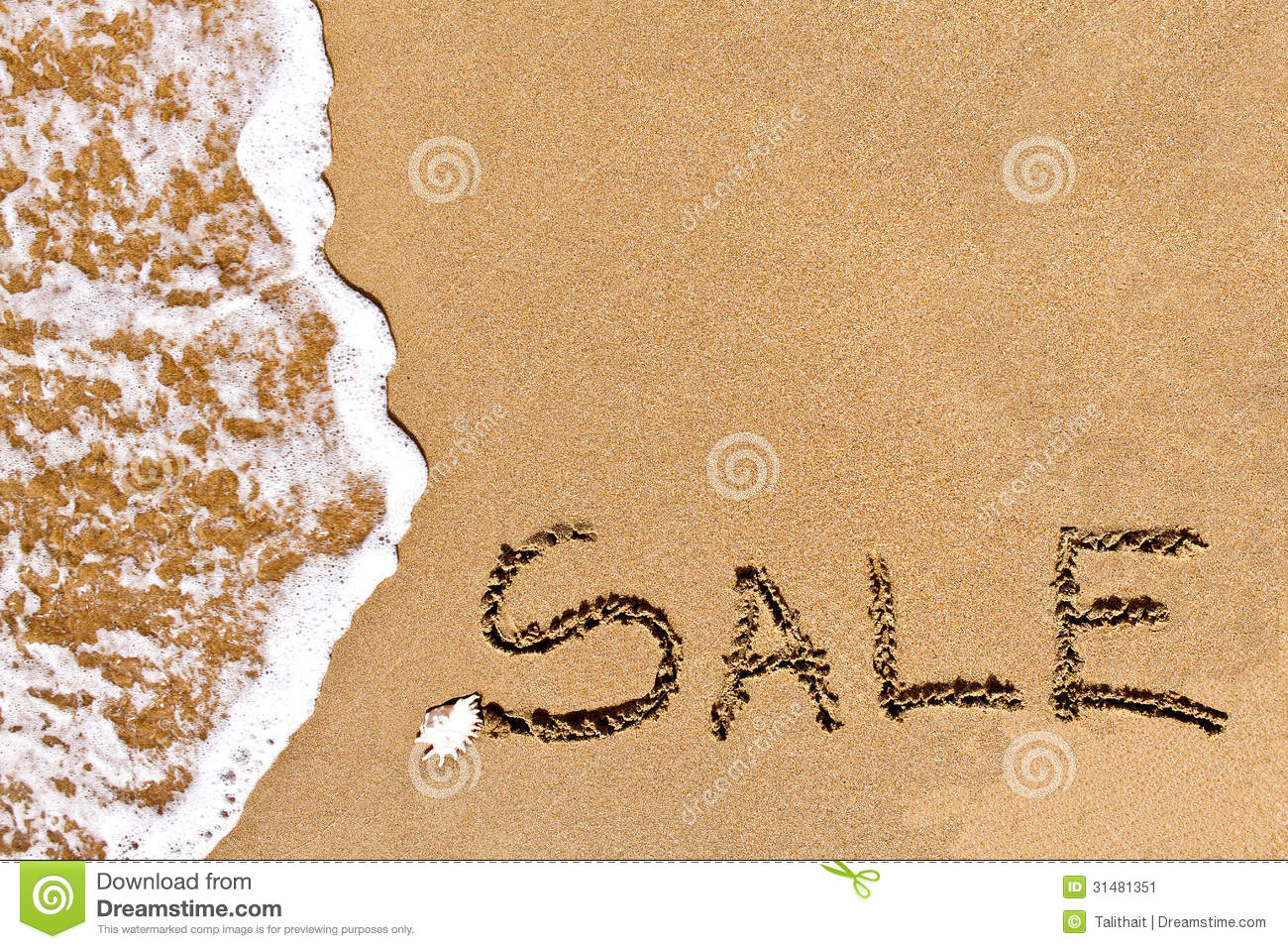 Sand For Sale >> Written Sale Drawn On The Sand Stock Image Image 31481351