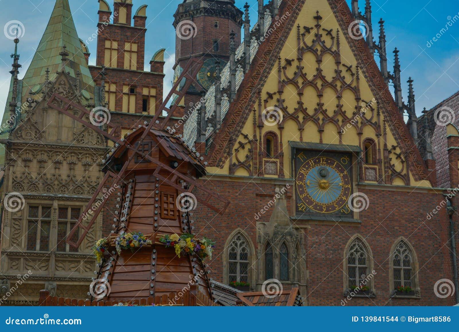 Ancient Clock In Frankfurt Bahnhof Royalty Free Stock