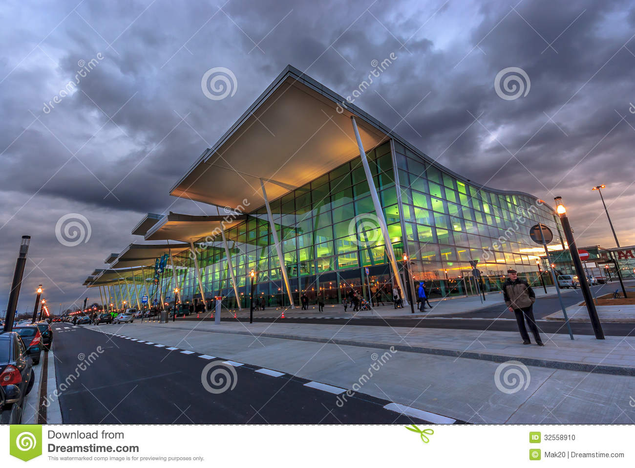 WROCLAW, POLAND New Airport Termina Editorial Image ...