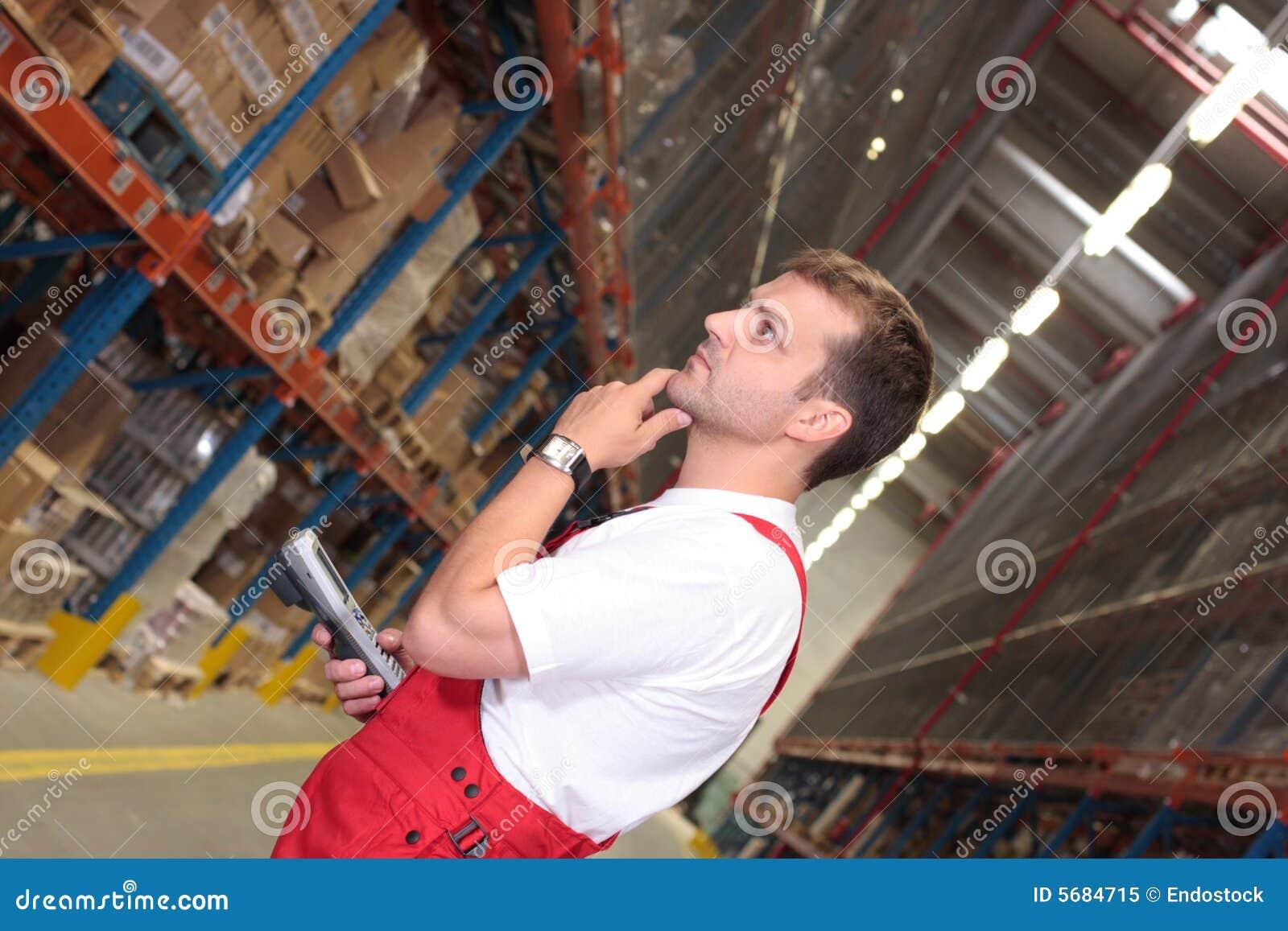 Wroker in warehouse