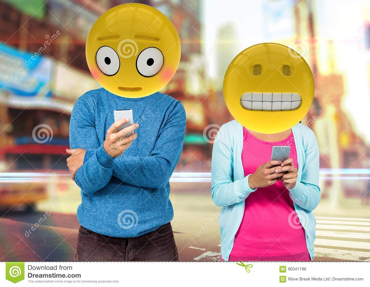 Wrong Sentences In WhatsApp  Emoji Face  Stock Illustration