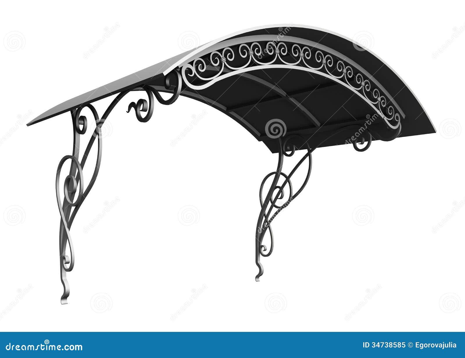 Wrought Iron Canopy Royalty Free Stock Photo Image 34738585
